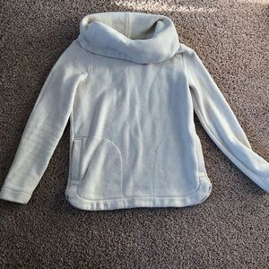 ATHLUXE Tommy Hilfiger Cowl Neck Cream Sweater